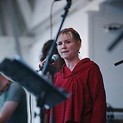 Braderie centrum Huizen, optreden Jodie Pijper