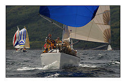 Yachting- The first days inshore racing  of the Bell Lawrie Scottish series 2002 at Tarbert Loch Fyne. Near perfect conditions saw over two hundred yachts compete. <br />Shindig First 33.7 class 3 FRA17833<br />Pics Marc Turner / PFM