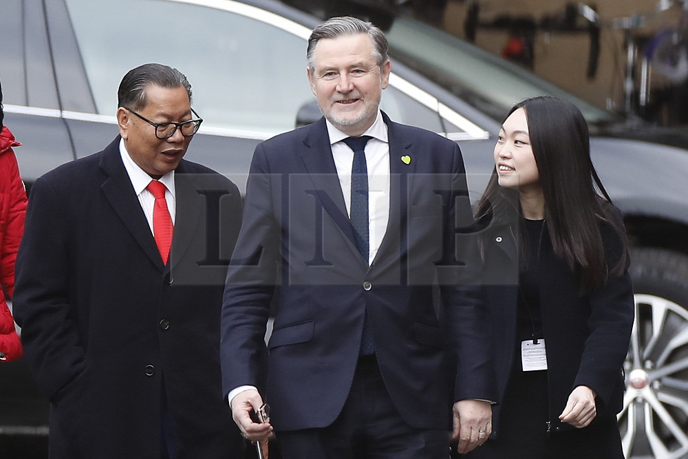 © Licensed to London News Pictures. 16/12/2019. London, UK. Labour MP Barry Gardiner walks with guests at Parliament. Parliament will sit tomorrow with newly elected MPs taking their seats ahead of the State Opening of Parliament on Thursday. Photo credit: Peter Macdiarmid/LNP