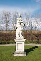 Statue in the formal gardens at The Irish Museum of Modern Art Royal Hospital Kilmainham in Dublin Ireland