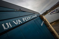 The Ulva ferry pier area. Feature on the community on the island of Ulva, who have been awarded £4.4m in funding for their island buyout.
