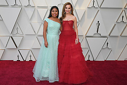 February 24, 2019 - Los Angeles, California, U.S - YALITZA APARICIO AND MARINA DE TAVIRA during red carpet arrivals for the 91st Academy Awards, presented by the Academy of Motion Picture Arts and Sciences (AMPAS), at the Dolby Theatre in Hollywood. (Credit Image: © Kevin Sullivan via ZUMA Wire)