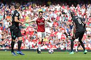 Arsenal midfielder Granit Xhaka (29) during the Premier League match between Arsenal and West Ham United at the Emirates Stadium, London, England on 22 April 2018. Picture by Bennett Dean.