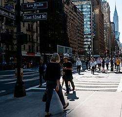 Pedestrians Crossing Road, Manhattan, New York City