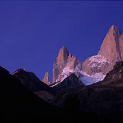 Mt. FitzRoy in Parque Nacional las Glaciares, El Chaltan, Patagonia, Argentina.