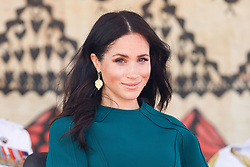 The Duchess of Sussex attends the unveiling of a statue in honour of Sergeant Talaiasi Labalaba in Nadi, western Fiji, on the third day of the royal couple's visit to the country.