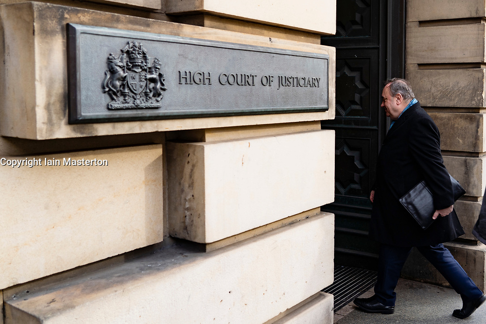 Edinburgh, Scotland, UK. 18 March, 2020.  Alex Salmond arrives at High Court in Edinburgh on the eighth day of his trial.  Iain Masterton/Alamy Live News
