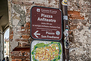 Piazza Amfiteatro in Lucca, Tuscany, Italy