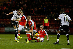 Aaron Wilbraham of Bristol City shoots - Photo mandatory by-line: Rogan Thomson/JMP - 07966 386802 - 20/12/2014 - SPORT - FOOTBALL - Crewe, England - Alexandra Stadium - Crewe Alexandra v Bristol City - Sky Bet League 1.
