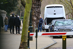 A Bus luggage compartment is open awaiting loadingas 23 Russian diplomats and their families prepare to leave the Russian embassy in London following their expulsion in the wake of the Salisbury poisoning case which has former spy Sergei Skripal and his daughter who remain in hospital in critical condition. . London, March 20 2018.