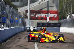 March 11, 2018 - St. Petersburg, Florida, United States of America - March 11, 2018 - St. Petersburg, Florida, USA: Ryan Hunter-Reay (28) battles for position during the Firestone Grand Prix of St. Petersburg at Streets of St. Petersburg in St. Petersburg, Florida. (Credit Image: © Justin R. Noe Asp Inc/ASP via ZUMA Wire)