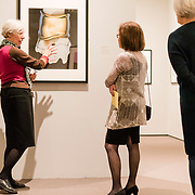 Anne Havinga, Estrellita and Yousuf Karsh Chair of Photography at the Museum of Fine Arts, Boston, leads a tour to patrons.