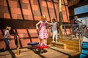 Antwerp, Belgium, 17/08/2011. Children playing. PHOTO©Christophe Vander Eecken