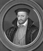 Gaspard de Coligny or Coligni (1517-72) French Huguenot Admiral. Killed in his room in presence of Duc de Guise in Massacre of St Bartholemew, 23 August 1572. Steel engraving 1851
