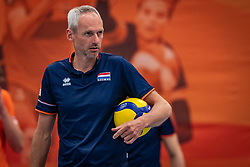 Ass. coach Henk-Jan Held of Netherlands in action during the Olaf Ratterman Memorial match between Netherlands vs. Eredivisie All Star team on May 03, 2021 in Barneveld.