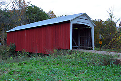 24 October 2017:  Harry Evans Bridge.<br /> <br />  Parke County Indiana is the site of the Indiana Covered Bridge Festival every October