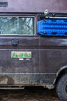 VW Adventure wagon. Davis Lake in central Oregon.