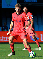 Real Sociedad's Asier Illarramendi (l) and Raul Navas during La Liga match. August 19,2017. (ALTERPHOTOS/Acero)
