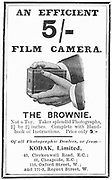 Advertisement for Kodak 'Brownie' camera from 'The Illustrated London News', 4 August 1900. Engraving.