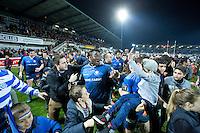 Ibrahim Diarra au milieu des supporters - 07.03.2015 -  Castres / Lyon Lou  -  19eme journee de Top 14<br />Photo : Laurent Frezouls / Icon Sport