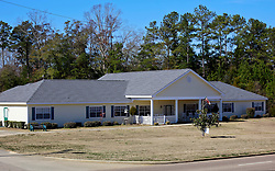 06 February 2015. Monroeville, Alabama.<br /> On the trail of Harper Lee's 'To Kill a Mocking Bird.'<br /> Author Harper Lee currently resides at the Meadows of Monroeville assisted living facility on the outskirts of town.<br /> Photo; Charlie Varley/varleypix.com