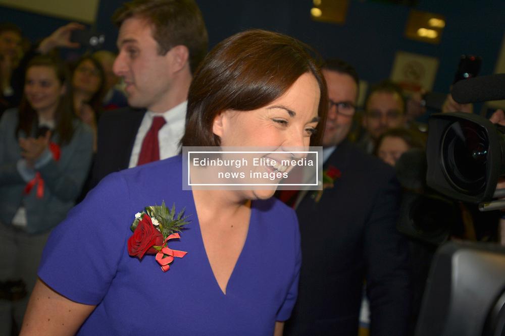 SCOTTISH PARLIAMENTARY ELECTION 2016 – Kezia Dugdale Scottish Labour Party at the Royal Highland Centre, Edinburgh for declaration of results.<br />(c) Brian Anderson   Edinburgh Elite media