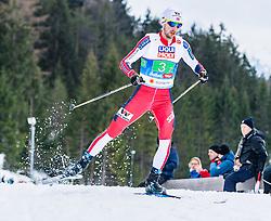 02.03.2019, Seefeld, AUT, FIS Weltmeisterschaften Ski Nordisch, Seefeld 2019, Nordische Kombination, Langlauf, Team Bewerb 4x5 km, im Bild Joergen Graabak (NOR) // Joergen Graabak of Norway during the Cross Country Team competition 4x5 km of Nordic Combined for the FIS Nordic Ski World Championships 2019. Seefeld, Austria on 2019/03/02. EXPA Pictures © 2019, PhotoCredit: EXPA/ Stefan Adelsberger