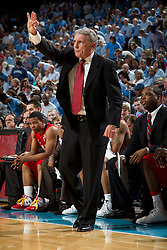 CHAPEL HILL, NC - FEBRUARY 27: Head coach Gary Williams of the Maryland Terrapins calls a play while playing the North Carolina Tar Heels on February 27, 2011 at the Dean E. Smith Center in Chapel Hill, North Carolina. North Carolina won 76-87. (Photo by Peyton Williams/UNC/Getty Images) *** Local Caption *** Gary Williams