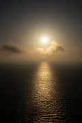 Sunset over water off the coast of Zakynthos in the Ionian Sea