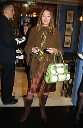 KIMBERLEY DU ROSS at a fashion show with designs by Irish designer Louise Kennedy held in the Blue Bar, Berkeley Hotel, London on 12th May 2005.<br /><br />NON EXCLUSIVE - WORLD RIGHTS