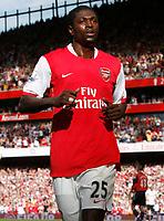 Photo: Steve Bond.<br />Arsenal v Derby County. The FA Barclays Premiership. 22/09/2007. Emmanuel Adebayor