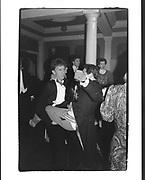 Simon Sebag-Montefiore and Geoffrey Gesetner, Pitt Club Ball, Cambridge, 13 February 1987.