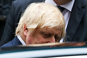 Prime Minister Boris Johnson leaves Ten Downing Street towards Parliament in London to attend his weekly session of PMQs on Wednesday, July 1, 2020. (Photo/Vudi Xhymshiti)