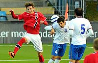 Fotball Herrer U-21 EM Kvalifisering 2013<br /> Marienlyst Stadion Gamle Gress  10.10.2013<br /> <br /> Strømsgodset vs Azerbaijan<br /> <br /> Resultat <br /> <br /> Foto: Robert Christensen Digitalsport<br /> <br /> Strømsgodset Gustav Wikheim fra Godset<br /> <br /> Azerbaijan Urfan Abbasov