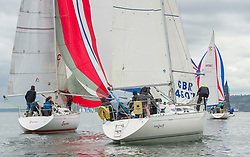 Day1, GBR 4607, Leaky Roof II, CSC, Sigma 33<br /> <br /> The Scottish Series, hosted by the Clyde Cruising Club is an annual series of races for sailing yachts held each spring. Normally held in Loch Fyne the event moved to three Clyde locations due to current restrictions. <br /> <br /> Light winds did not deter the racing taking place at East Patch, Inverkip and off Largs over the bank holiday weekend 28-30 May. <br /> <br /> Image Credit : Marc Turner / CCC