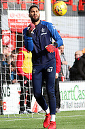 Rangers goalkeeper Wes Foderingham (13) in warm up prior to  the Ladbrokes Scottish Premiership match between Hamilton Academical FC and Rangers at New Douglas Park, Hamilton, Scotland on 24 February 2019.