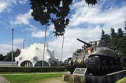 Nederland, Groesbeek, 25-6-2007..Het nationaal oorlogsmuseum. In dit museum veel aandacht voor de operatie market garden, september 1944. Bij groesbeel landden amerikaanse oparachutisten die de Waalbrug zouden veroveren...Foto: Flip Franssen/Hollandse Hoogte