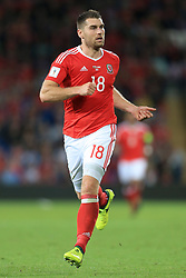 2nd September 2017 - 2018 FIFA World Cup Qualifying (Group D) - Wales v Austria - Sam Vokes of Wales - Photo: Simon Stacpoole / Offside.