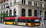 Tandem hybrid electric buses, RapidRide, Seattle, Washington