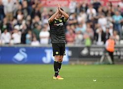 John Terry of Chelsea claps the traveling fans. - Mandatory byline: Alex James/JMP - 07966386802 - 11/09/2016 - FOOTBALL - Barclays premier league -swansea,Wales - Swansea v Chelsea  -