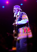 June 23, 2017-New York, NY-United States:  Recording Jazz Artist Pharaoh Sanders performs at the BRIC Celebrate Brooklyn Music Festival held at the Propect Park Bandshell on June 23, 2017 in Brooklyn, New York. (Photo by Terrence Jennings/terrencejennings.com)