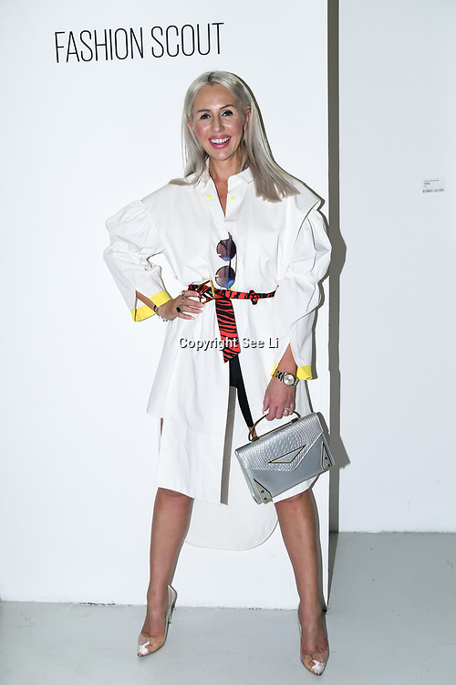 Naomi Isted attend A-Jane is a Chinese Malaysian showcases its latest LFW SS 20 Collection at Fashion Scout SS20 on 15 September 2019, London, UK