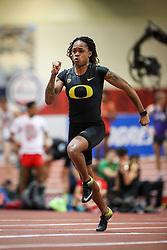 Don Kirby Invitational Indoor Track & Field<br /> Albuquerque, NM, Feb 14, 2020<br /> womens 60m heats, Oregon