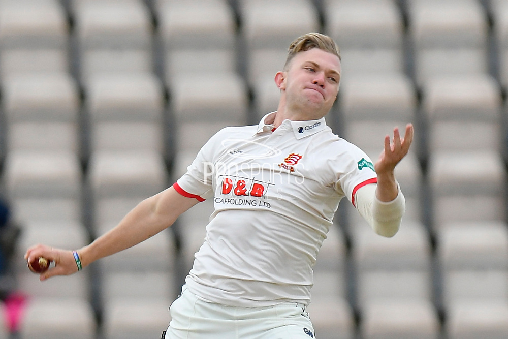 Sam Cook of Essex bowling during the first day of the Specsavers County Champ Div 1 match between Hampshire County Cricket Club and Essex County Cricket Club at the Ageas Bowl, Southampton, United Kingdom on 5 April 2019.