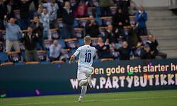 Jeppe Kjær (FC Helsingør) jubler efter scoringen til 2-0 under kampen i 1. Division mellem FC Helsingør og Silkeborg IF den 11. september 2020 på Helsingør Stadion (Foto: Claus Birch).