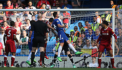May 6, 2018 - London, Greater London, United Kingdom - Olivier Giroud of Chelsea scores a goal during English Premier League match between Chelsea and Liverpool at Stamford Bridge, London, England on 6 May 2018. (Credit Image: © Kieran Galvin/NurPhoto via ZUMA Press)