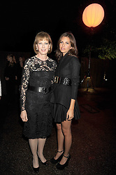 Left to right, JULIA PEYTON-JONES and DASHA ZHUKOVA at the annual Serpentine Gallery Summer Party in Kensington Gardens, London on 9th September 2008.