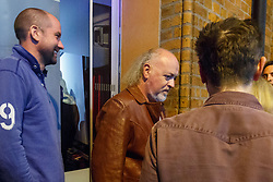 © Licensed to London News Pictures. 07/05/2016. London, UK. BILL BAILEY leaving the 'Brigade Bar & Bistro' after listening to a victory speech by Sadiq Khan after he won the Mayoral Election in London on Saturday, 7 May 2016. Labour MP Sadiq Khan has declared his victory and accused his Conservative counterpart, Zac Goldsmith MP of using underhand tactics during the campaign. Photo credit: Tolga Akmen/LNP