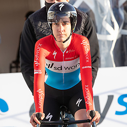 11-03-2021: Wielrennen: Healthy Ageing Tour: Lauwersoog. <br />Christine Majerus