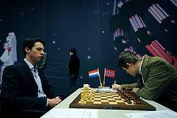 18-01-2009 SCHAKEN: CORUS CHESS: WIJK AAN ZEE<br /> Daniel Stellwagen vs. Magnus Carlsen NOR <br /> ©2009-WWW.FOTOHOOGENDOORN.NL